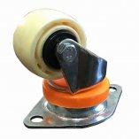 Колесо нейлоновое CARGO CASTER 62 мм, пылезащита - нейлон, площадка - ромб