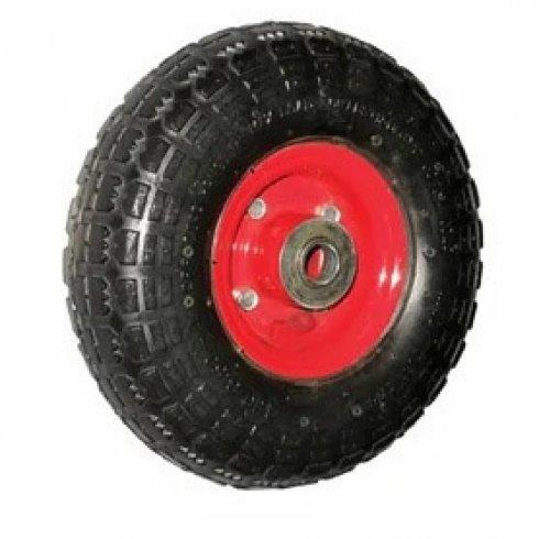 Колесо с симметричной  металлической ступицей 250 мм, посадочный диаметр 20 мм, вспененный полиуретан