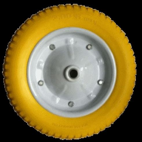 Колесо с симметричной ступицей 350 мм, посадочный диаметр 16 мм, вспененный полиуретан