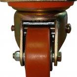 Колесо полиуретановое поворотное с тормозом 80 мм ED01 VBP 80 F Вид спереди
