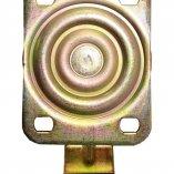 Колесо полиуретановое поворотное с тормозом 80 мм ED01 VBP 80 F Вид сверху
